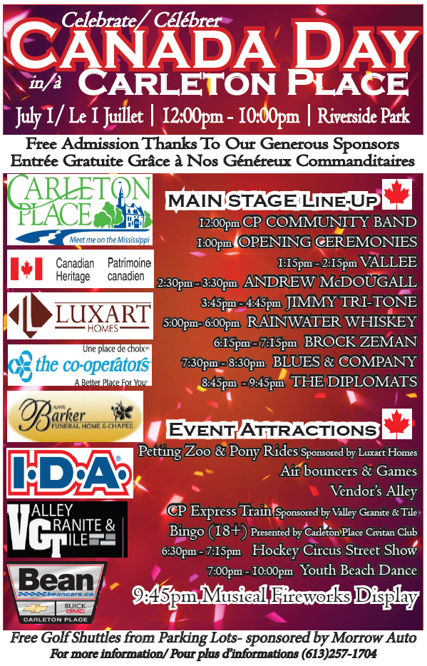 2016 Canada Day Poster Carleton Place