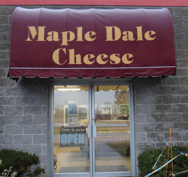 Maple Dale Cheese welcomes visitors. Photo credit: Maple Dale Cheese.