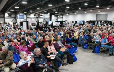 The crowd at Fifty Five Plus Spring Lifestyle Show.